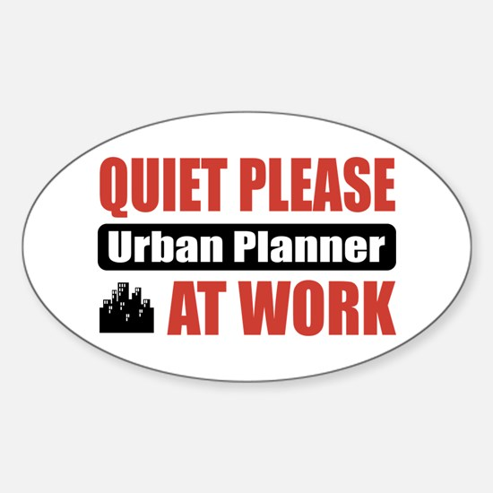 Urban Planner Work Oval Decal