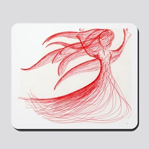 Lady in Red Mousepad