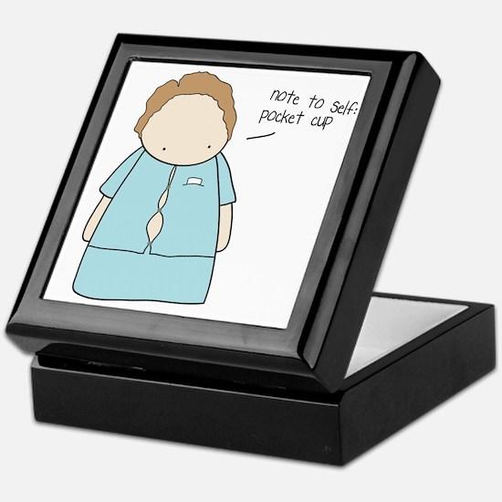 Tiny Fossil Pocket Cup Keepsake Box