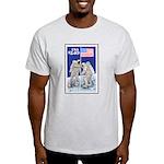 Apollo 11 Flag on Moon Stamp Ash Grey T-Shirt
