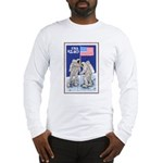 Apollo 11 Flag on Moon Stamp Long Sleeve T-Shirt