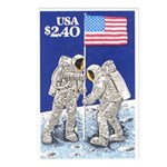 Apollo 11 Flag on Moon Stamp Postcards (Package of
