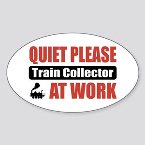 Train Collector Work Oval Sticker