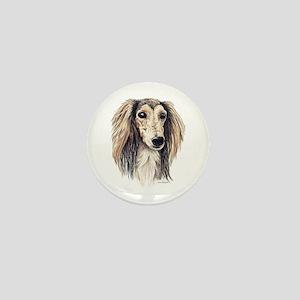 Saluki Portrait Mini Button