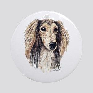 Saluki Portrait Ornament (Round)