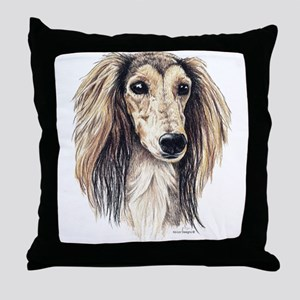 Saluki Portrait Throw Pillow