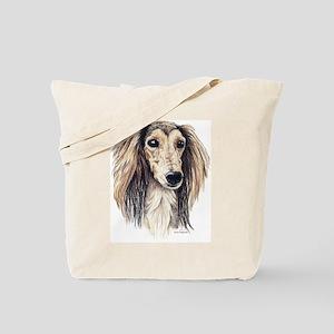 Saluki Portrait Tote Bag