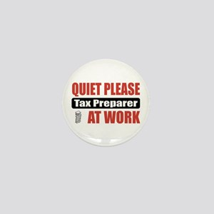 Tax Preparer Work Mini Button