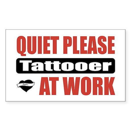 Tattooer Work Rectangle Sticker