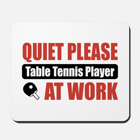 Table Tennis Player Work Mousepad