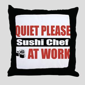 Sushi Chef Work Throw Pillow