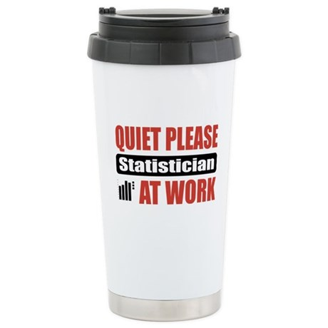 Statistician Work Stainless Steel Travel Mug