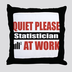 Statistician Work Throw Pillow