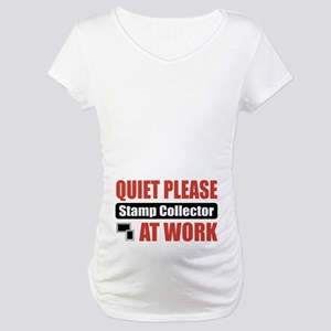 Stamp Collector Work Maternity T-Shirt