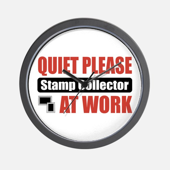 Stamp Collector Work Wall Clock