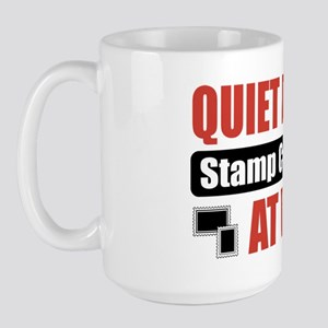 Stamp Collector Work Large Mug
