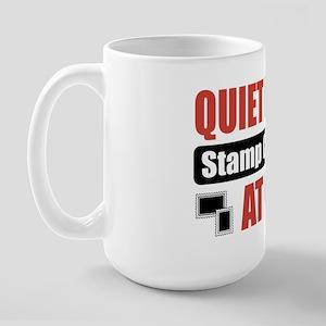 Stamp Collector Work Large Mug