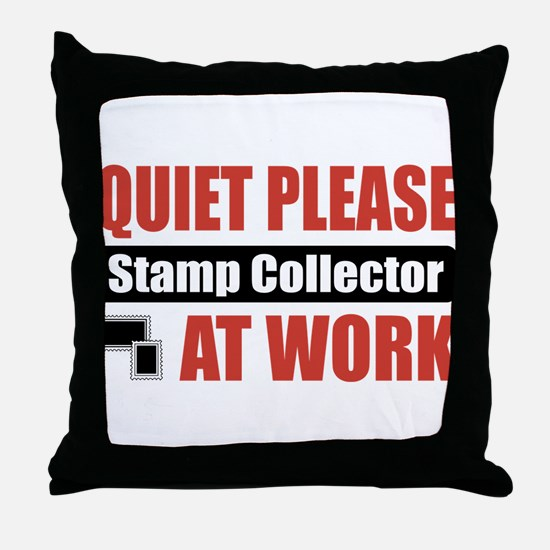 Stamp Collector Work Throw Pillow