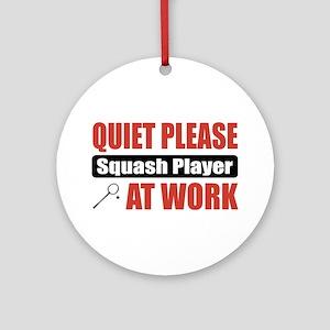 Squash Player Work Ornament (Round)