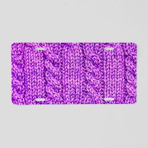 Knitting_030_by_JAMFoto Aluminum License Plate