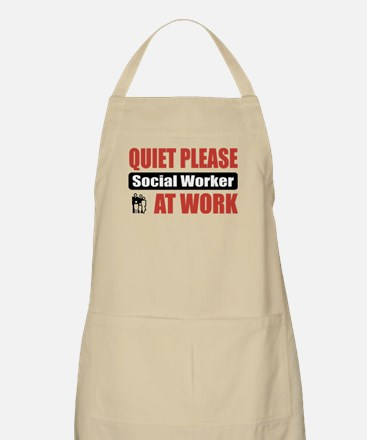 Social Worker Work BBQ Apron