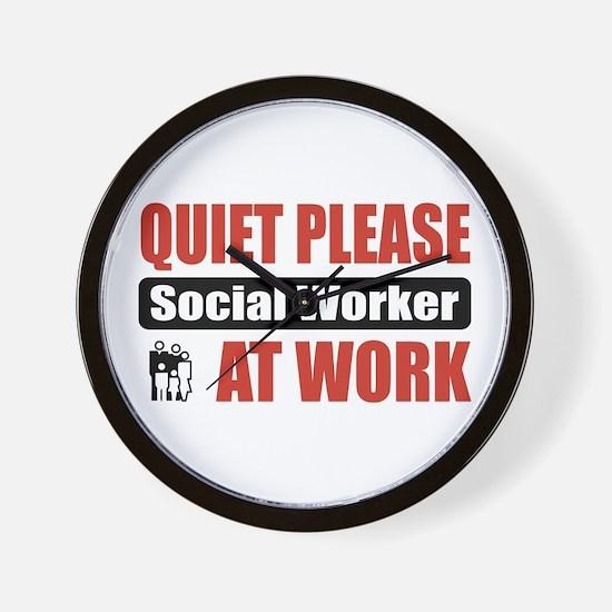 Social Worker Work Wall Clock