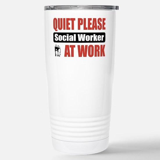 Social Worker Work Stainless Steel Travel Mug