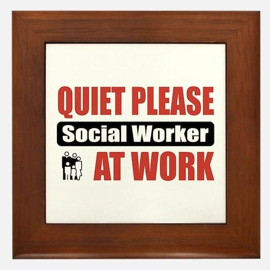 Social Worker Work Framed Tile