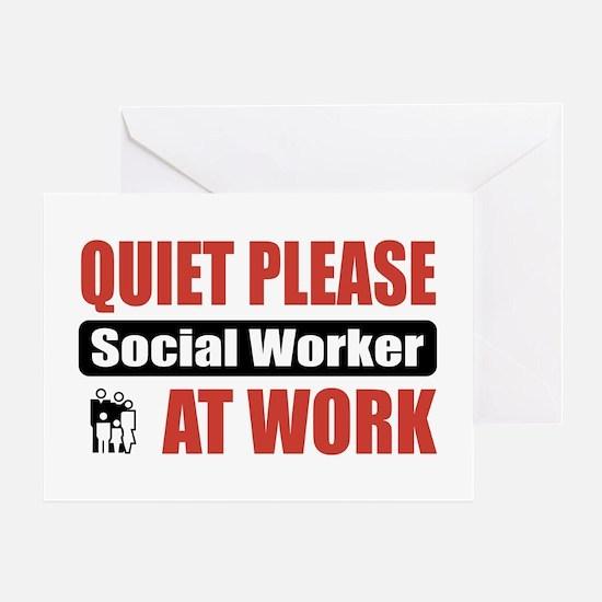 Social Worker Work Greeting Card