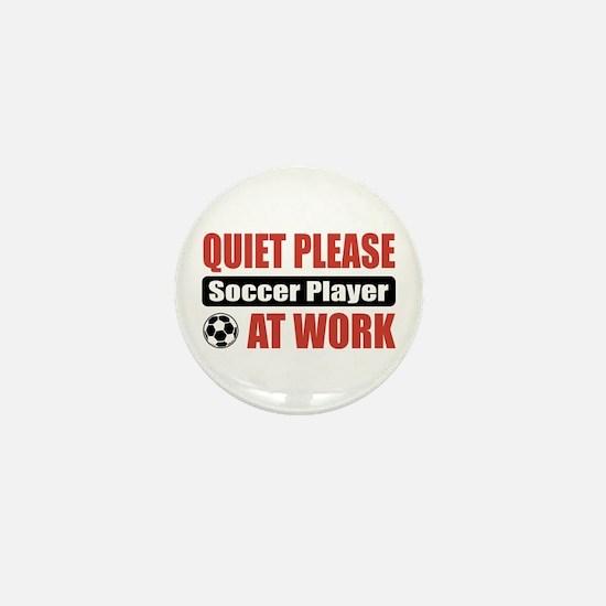 Soccer Player Work Mini Button
