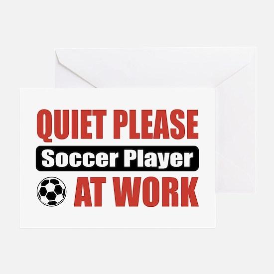Soccer Player Work Greeting Card