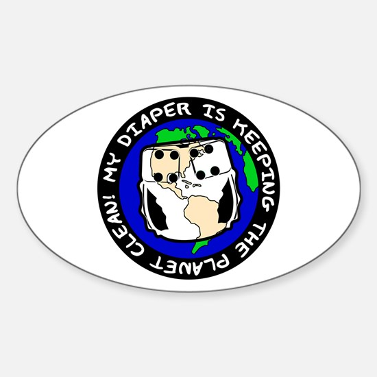 Keeping the Planet Clean... Oval Decal