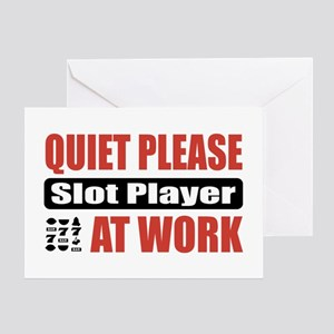 Slot Player Work Greeting Card
