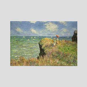 Claude Monet, Cliff Walk at Pourville Rectangle Ma