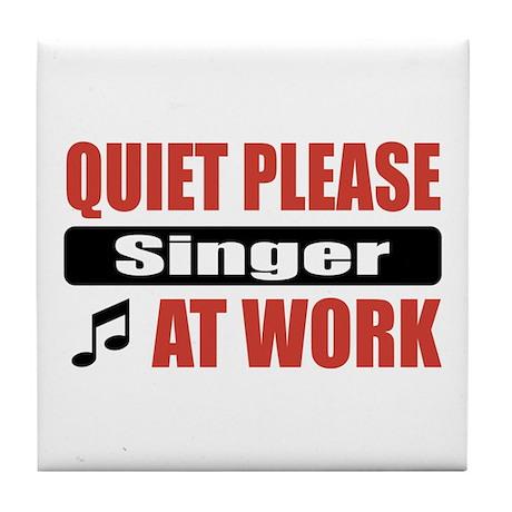Singer Work Tile Coaster