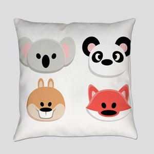 Animal Faces Everyday Pillow
