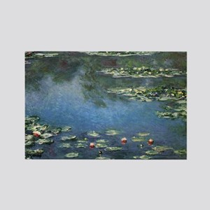 Waterlilies by Claude Monet Rectangle Magnet (10 p