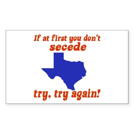 Secede Rectangle Sticker