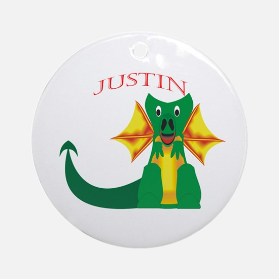 Justin Ornament (Round)