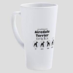 Airedale Tricks 17 oz Latte Mug