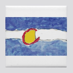 Water Color Painting Tile Coaster