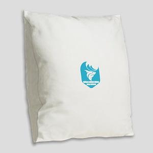 North Carolina - North Topsail Burlap Throw Pillow