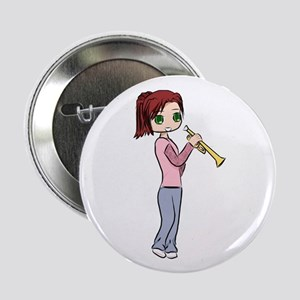 "Trumpet Girl 2.25"" Button"
