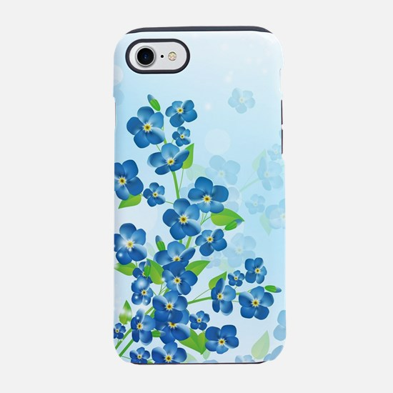 Forget Me Not Flowers iPhone 7 Tough Case