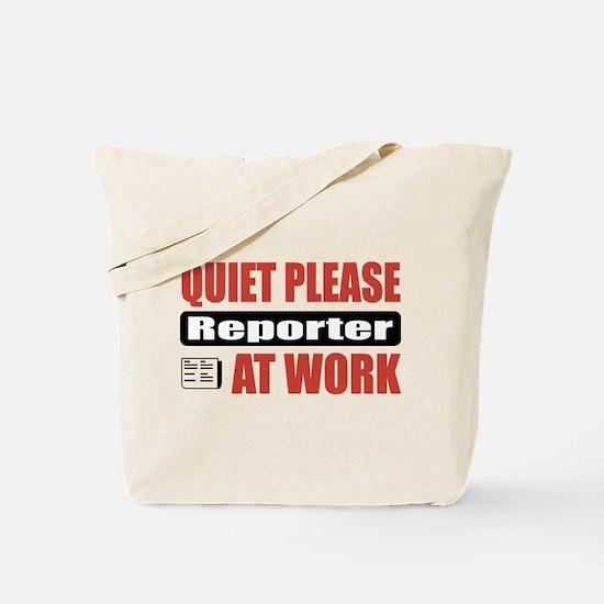 Reporter Work Tote Bag