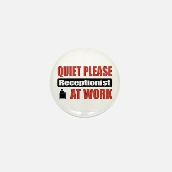 Receptionist Work Mini Button