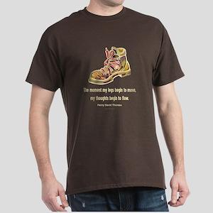 Thoreau Quote Hiking Dark T-Shirt