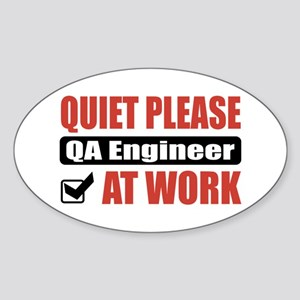 QA Engineer Work Oval Sticker