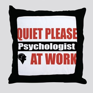 Psychologist Work Throw Pillow