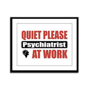Psychiatrist Work Framed Panel Print